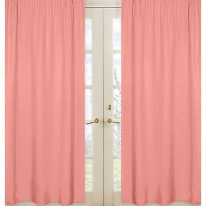 Mod Diamond Solid Sheer Rod pocket Curtain Panels (Set of 2)