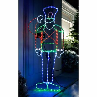 Pre-Lit Animated Saluting Soldier Rope Lighted Display
