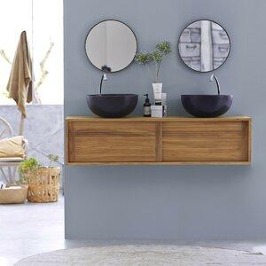 140 cm Wandmontierter Waschtisch Basic von Tikamoon