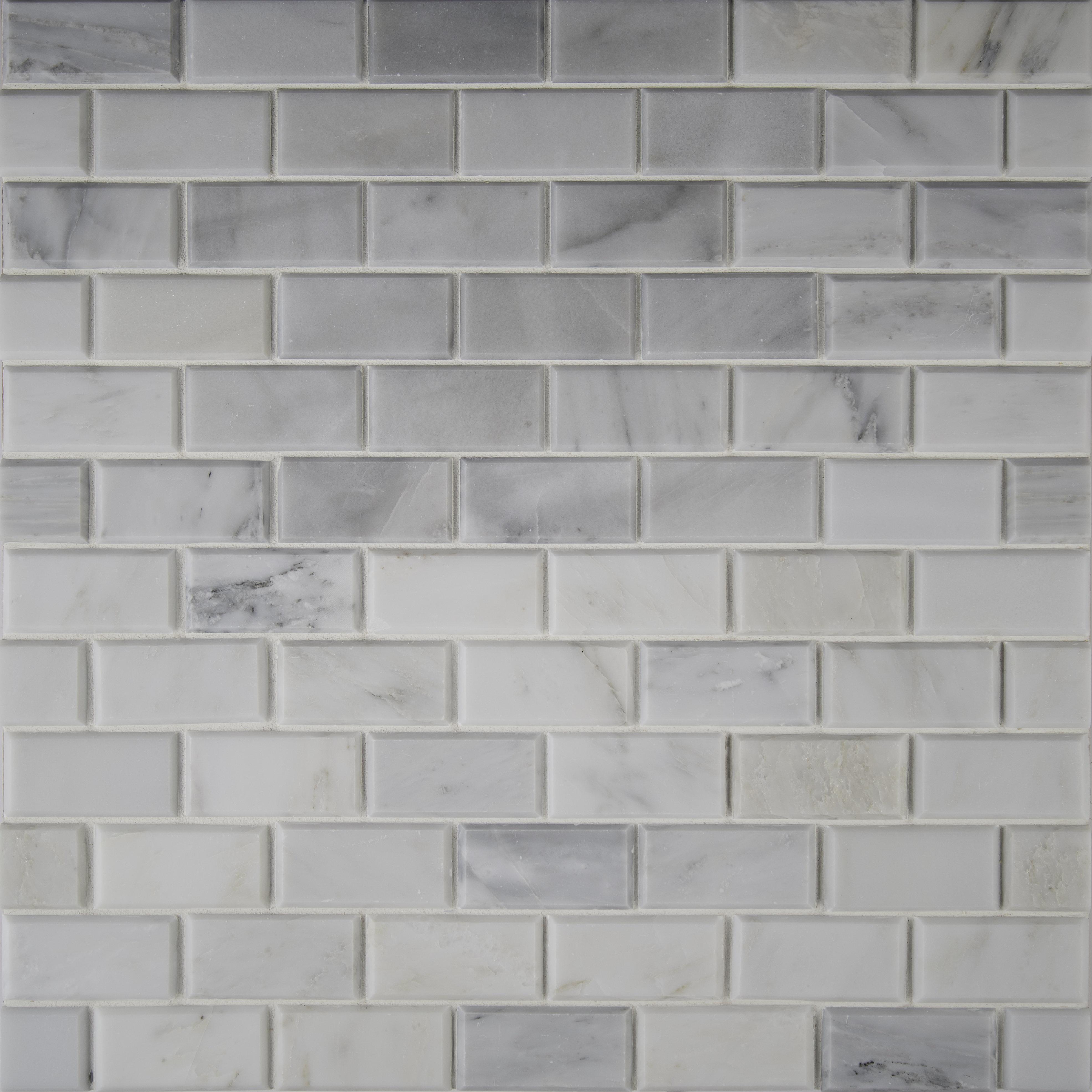Msi Arabeo Carrara Greecian Mounted 2 X 4 Marble Mosaic Tile In White Reviews Wayfair