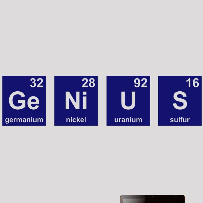 Genius Periodic Table Wall Decal