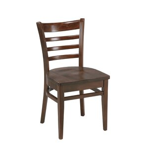 Amoroso Beechwood Ladder Back Seat Solid Wood Dining Chair by Red Barrel Studio
