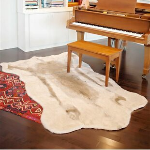 Reindeer Hide Gray Faux Cowhide Area Rug