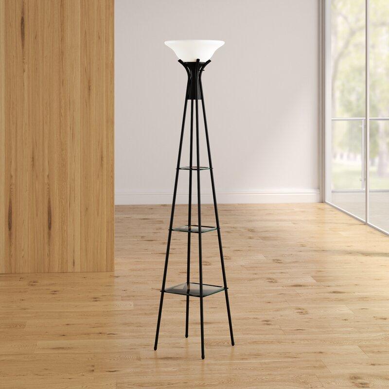 Ivy Bronx Benton Incandescent 70 Torchiere Floor Lamp Reviews