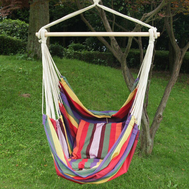 AdecoTrading Hanging Suspended Double Chair Hammock