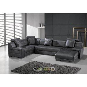 Houston Leather Modular Sectional