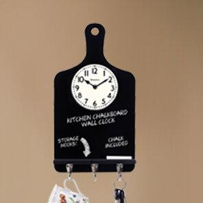 Ordinaire Westclox Chalk Board Key Holder Wall Clock | Wayfair