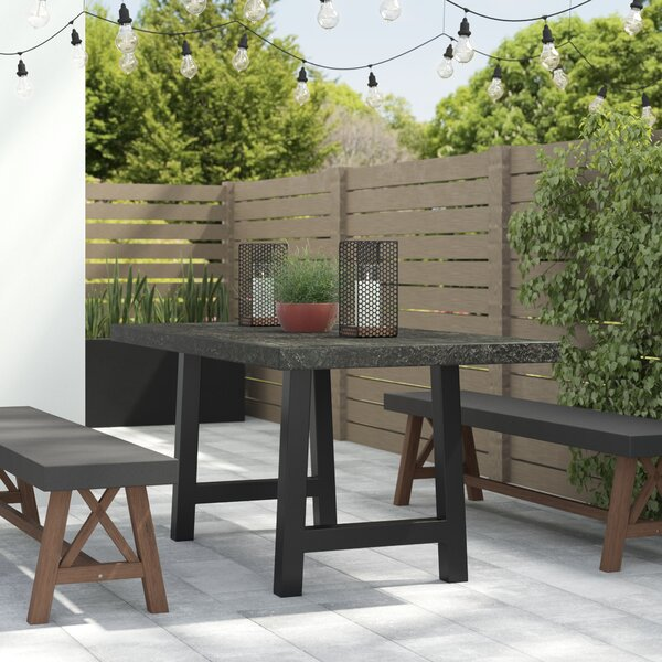- 17 Stories Dorcia Outdoor Concrete Dining Table & Reviews Wayfair