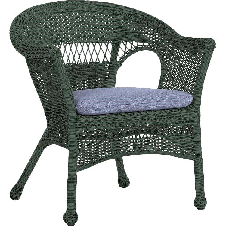 Plow & Hearth Easy Care Resin Wicker Chair & Reviews