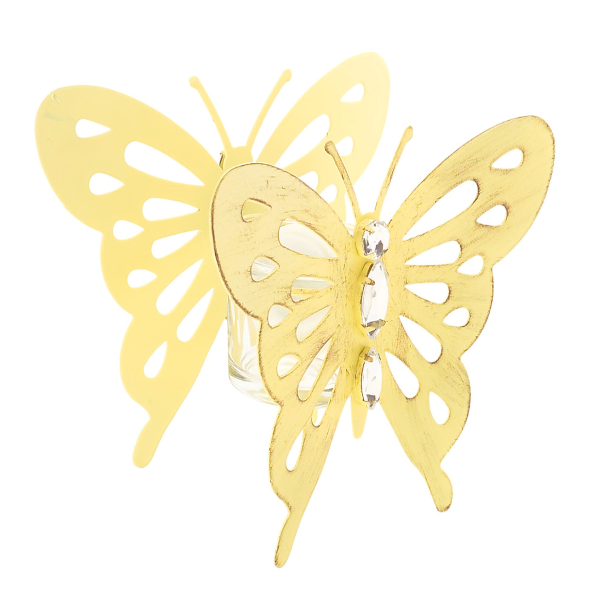 August Grove Single Butterfly Metal Tealight