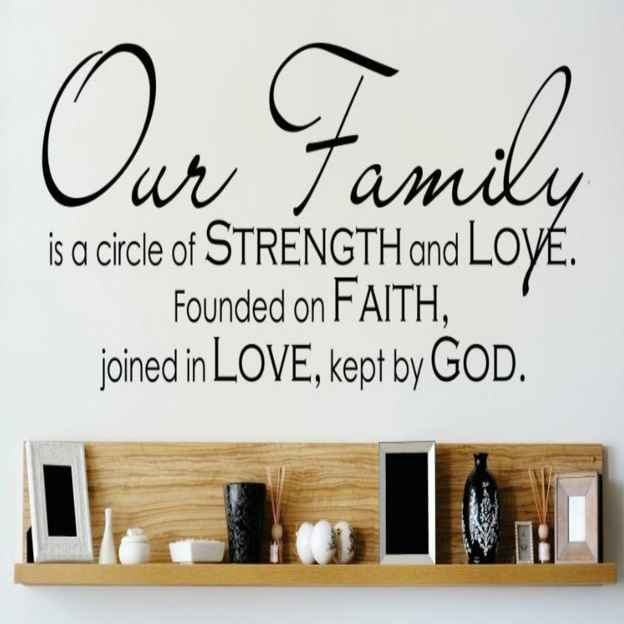 Design With Vinyl Our Family Is A Circle Of Strength And Love