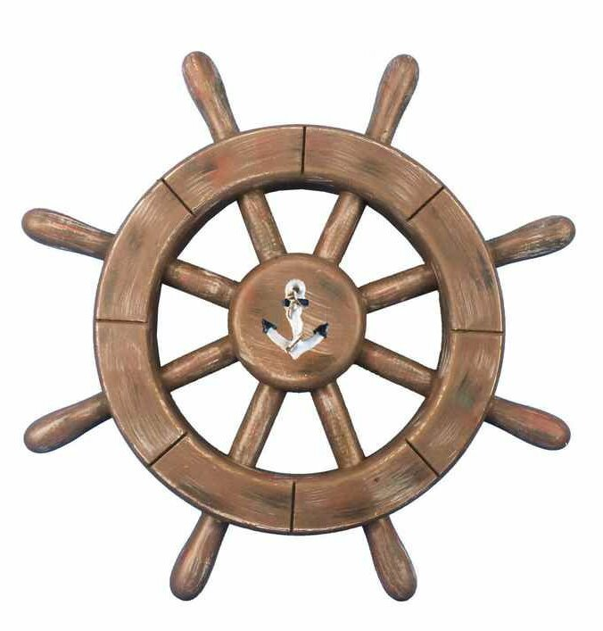Handcrafted Nautical Decor Rustic Ship Wheel Wall Reviews