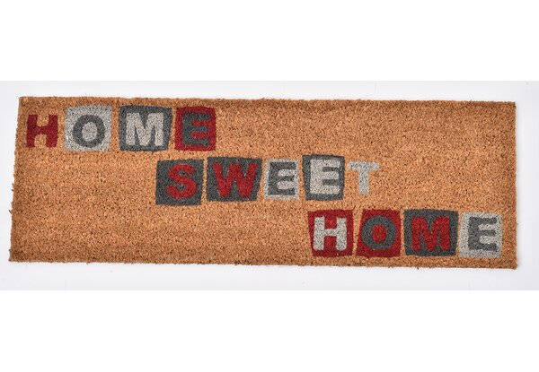 Evideco Evideco Sheltered Printed Large Front Door Mat Home Sweet Home Coir  Coco Fibres Rug 30x10 Inch Natural U0026 Reviews | Wayfair.ca