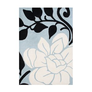 Cabot Hand-Tufted Light Blue/Cream Area Rug