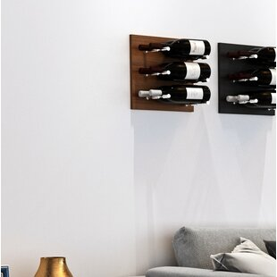 3 Bottle Wood Wall Mounted Wine Rack