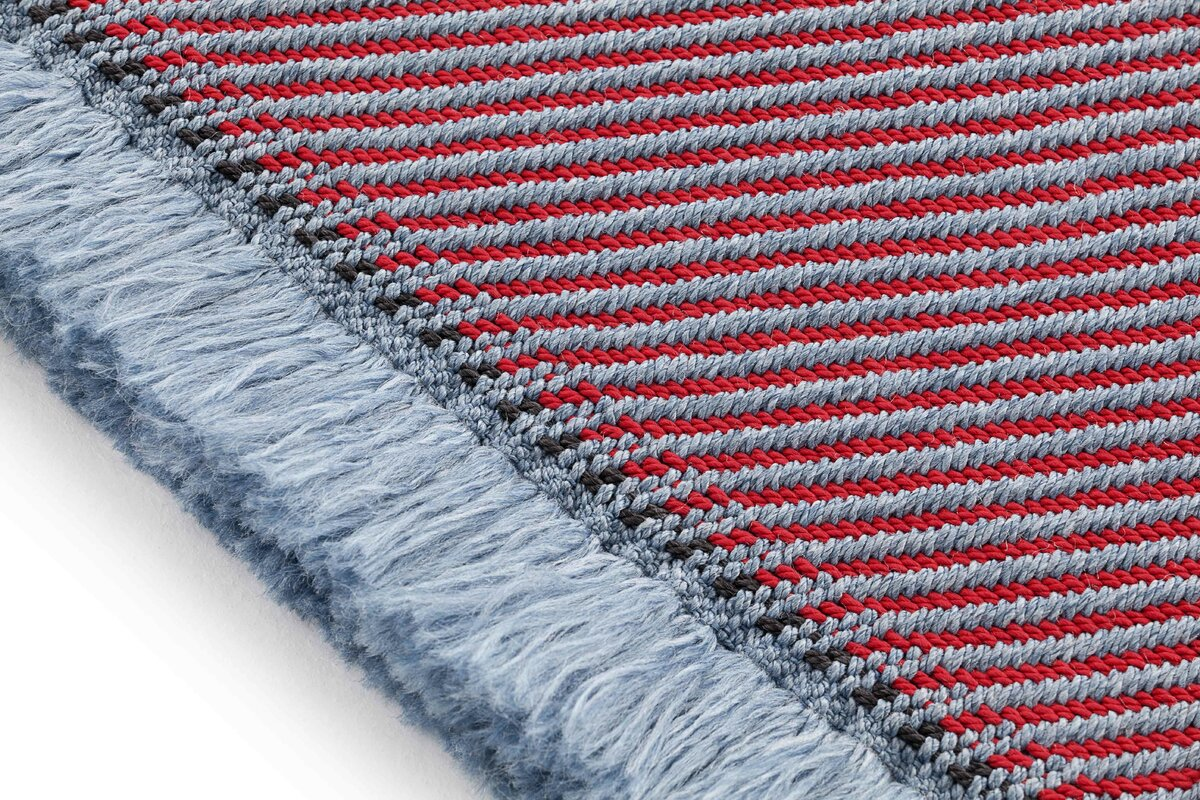 Garden Layers Diagonal Gray/Red Indoor/Outdoor Area Rug