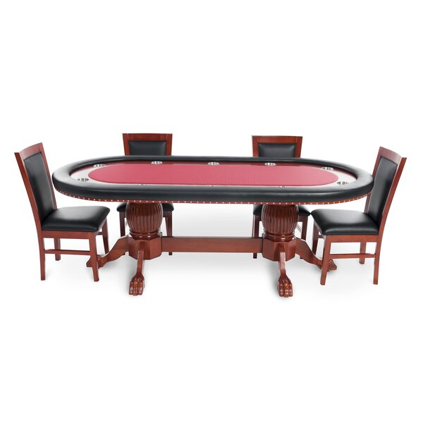BBO Poker Rockwell 8 Piece Poker Dining Table Set with Dining ...