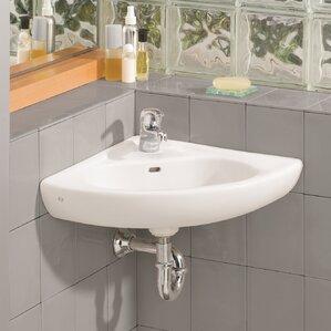 15 75 Corner Bathroom Sink With Overflow