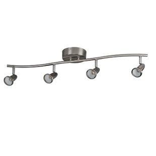 ceiling mount track lighting residential 4light ceiling mount fixed rail full track kit lighting wayfair