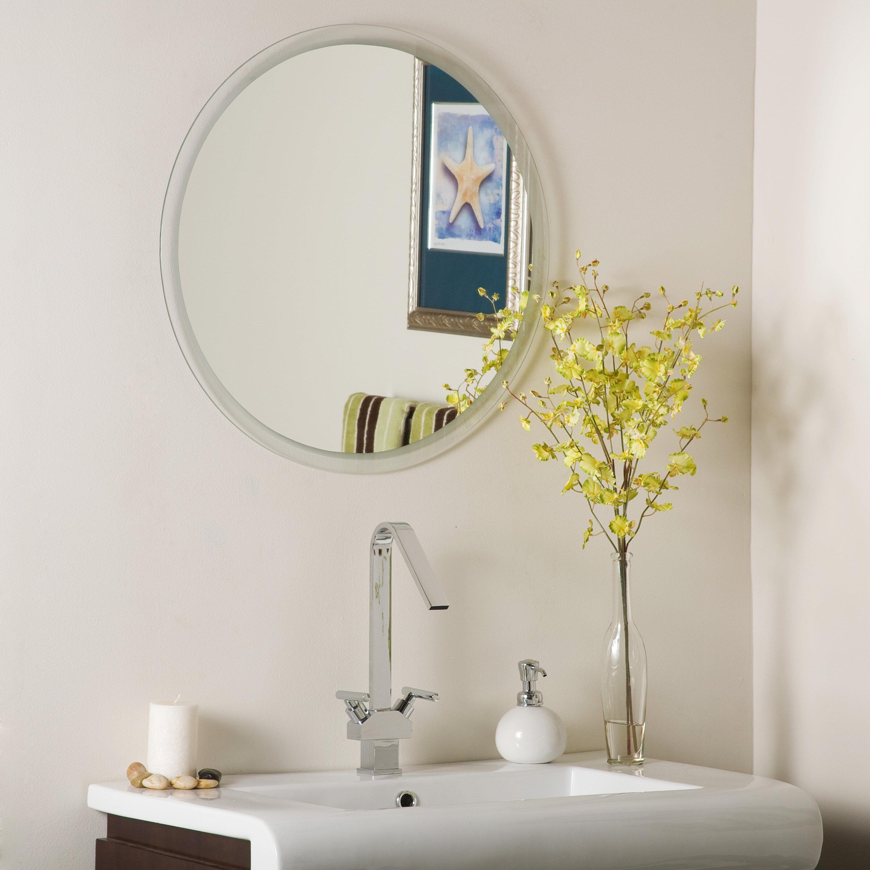 Decor Wonderland Frameless Beveled Karnia Wall Mirror & Reviews ...