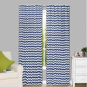 Elegant Chevron Blackout Rod Pocket Curtain Panels (Set Of 2)