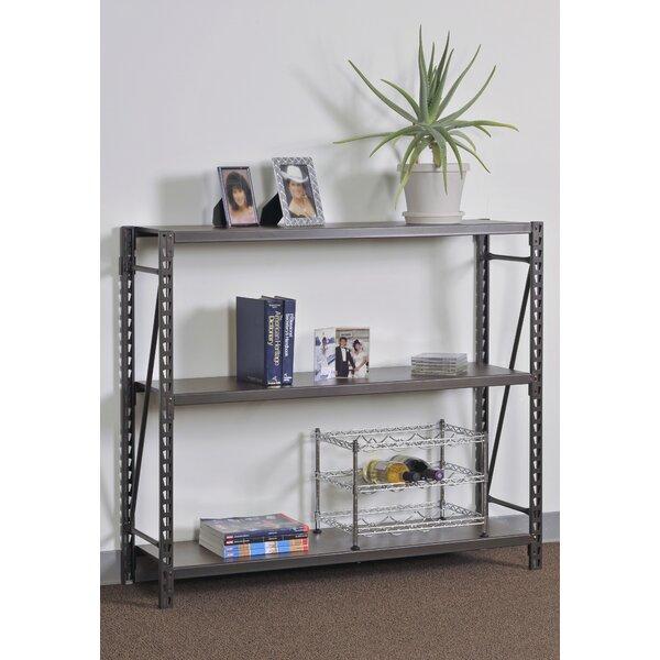 sandusky 42 h x 48 w 3 shelves steel commercial decorative rh wayfair com metal decorative shelf brackets metal decorative shelving