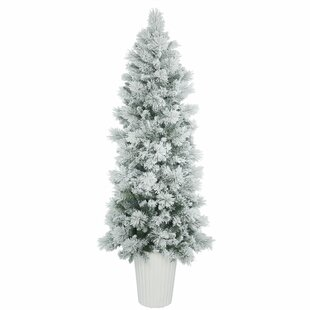 flocked winter twig 7 white pine artificial christmas tree - White Twig Christmas Tree