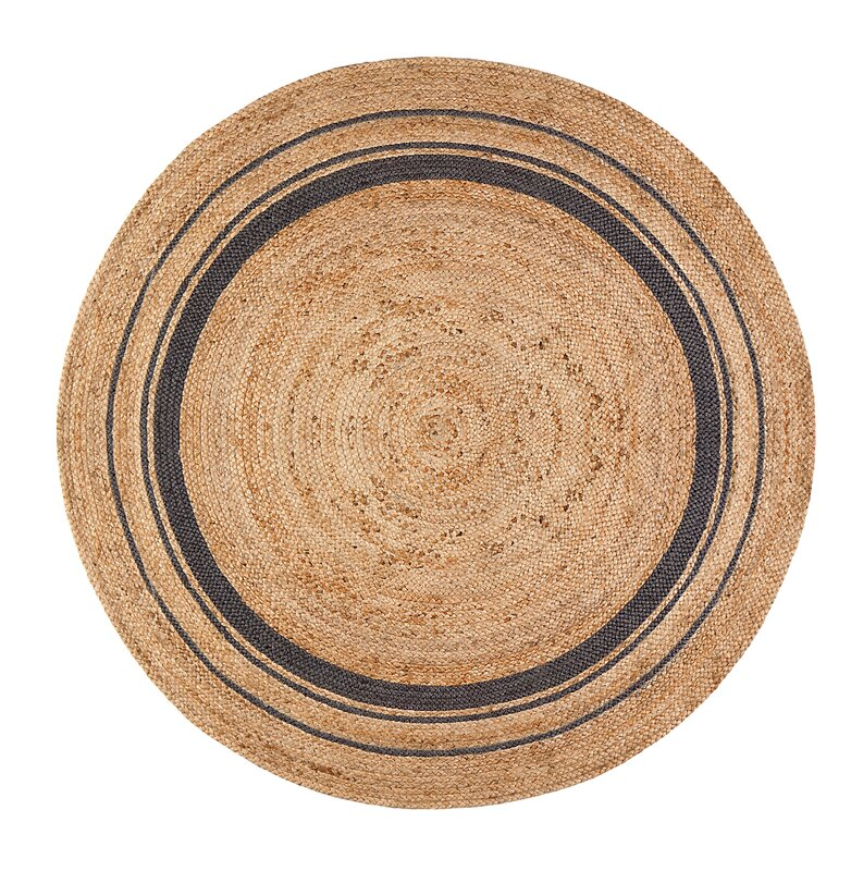 Black And Tan Area Rugs laurel foundry modern farmhouse cheryl mist hand-braided tan/black