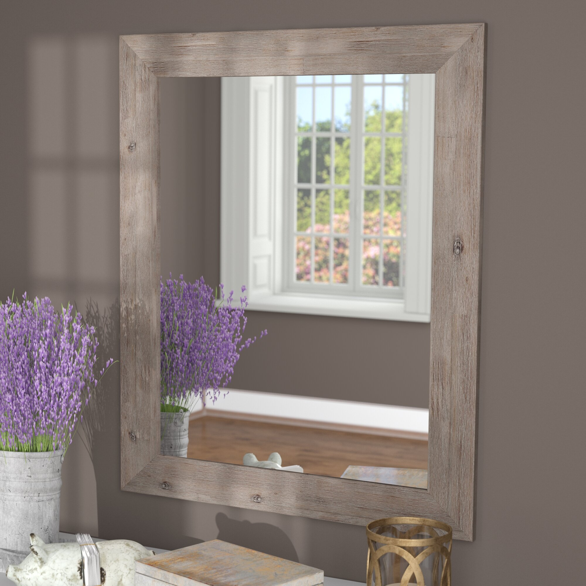 Union Rustic Glynis Rustic Wild West Barnwood Wall Mirror & Reviews on