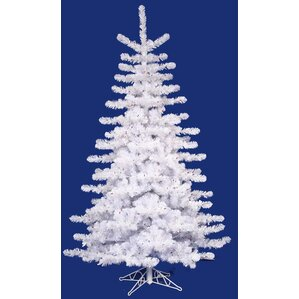 10 crystal white artificial christmas tree with clear lights - White Christmas Tree With Blue Lights