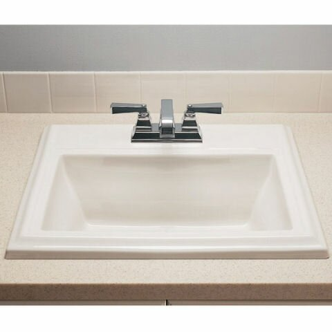 """Town Square Ceramic 24"""" Rectangular Drop-In Bathroom Sink with Overflow"""