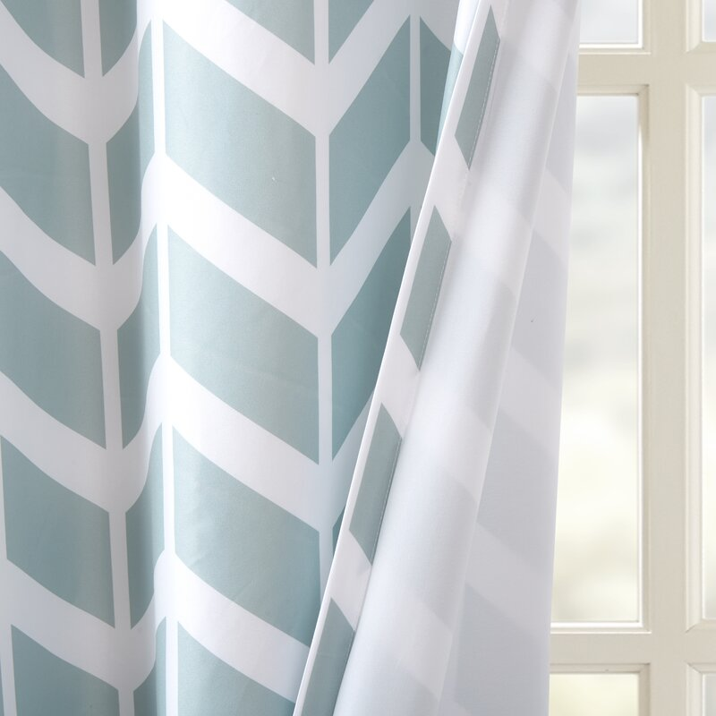 Intelligent Design Alex Chevron Room Darkening Grommet