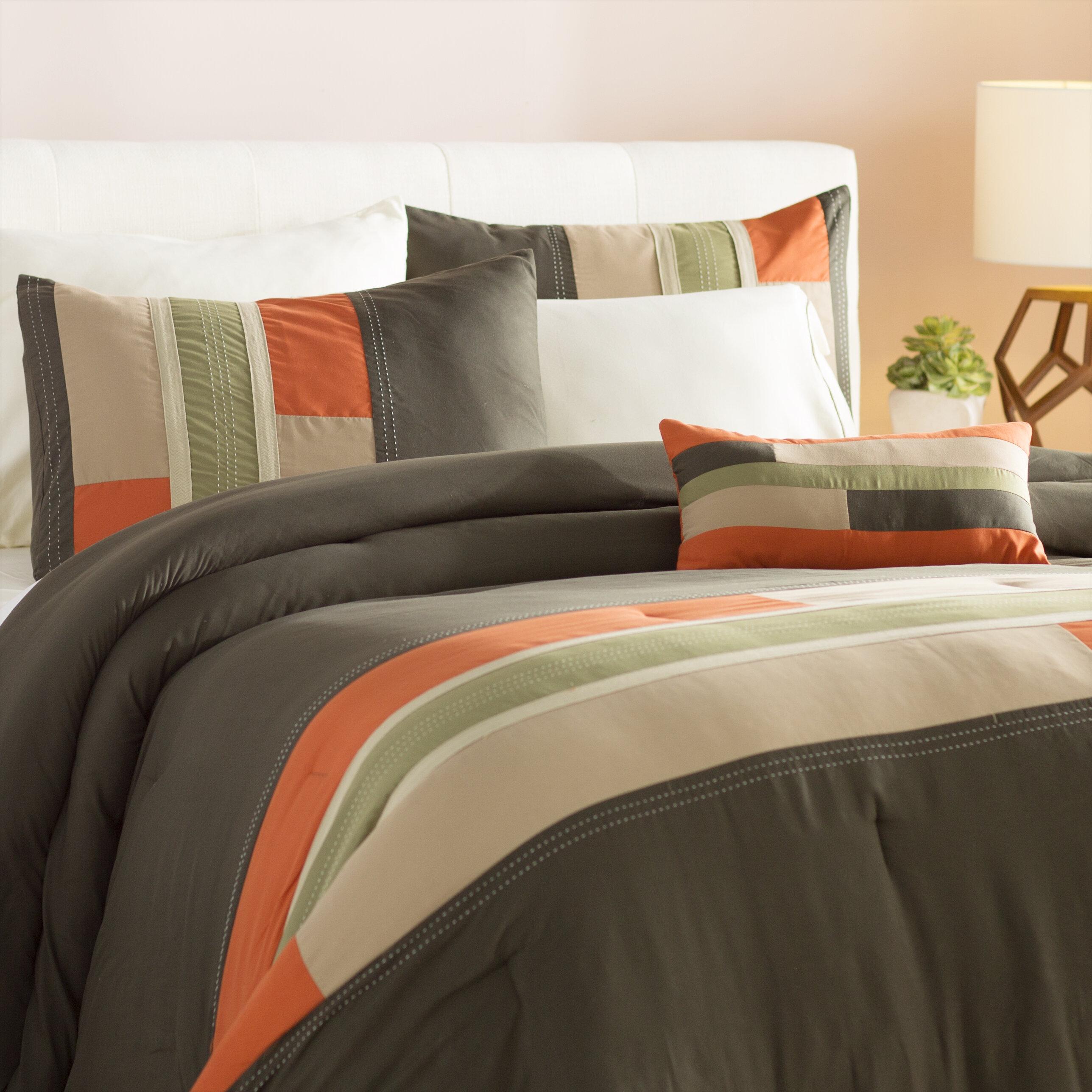 Ebern Designs Woltjen Reversible Comforter Set & Reviews | Wayfair