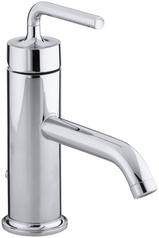 purist single hole single handle bathroom faucet with drain assembly