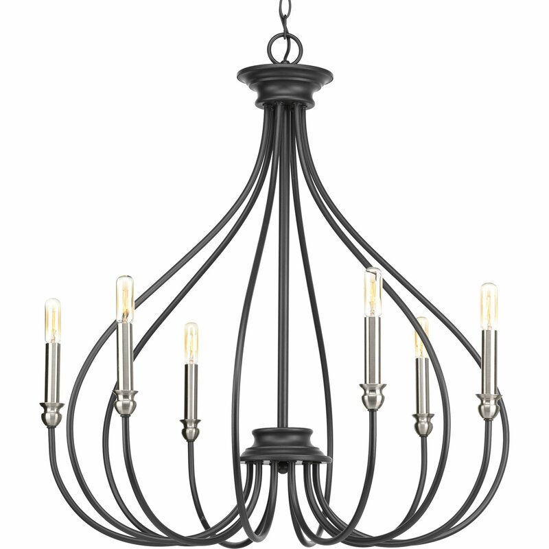 Gracie Oaks Chaney 6 Light Candle Style Chandelier Reviews