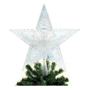 lighted 5 point star christmas tree topper - Lighted Christmas Tree Topper