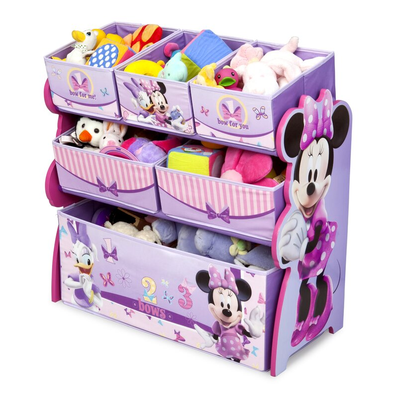 High Quality Minnie Mouse Multi Bin Toy Organizer