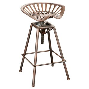 Belkis Adjustable Height Bar Stool by Williston Forge