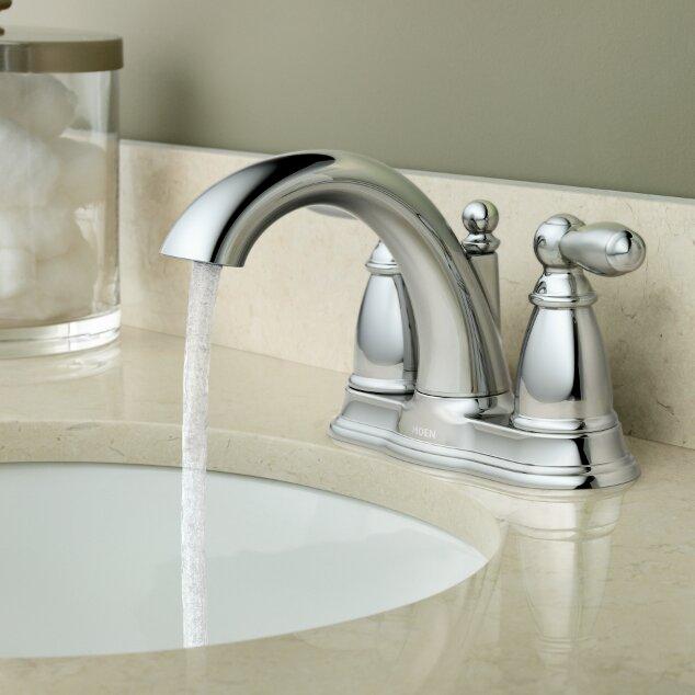 Bathroom Sinks Moen moen brantford two handle centerset bathroom faucet & reviews