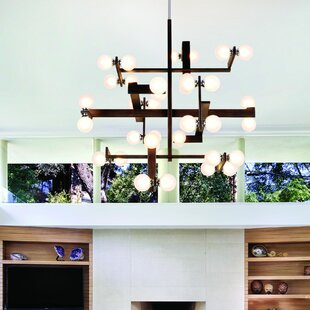 Network 36 Light Branched Chandelier