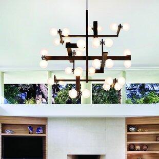 Wood branch chandeliers wayfair network 36 light branched chandelier aloadofball Images