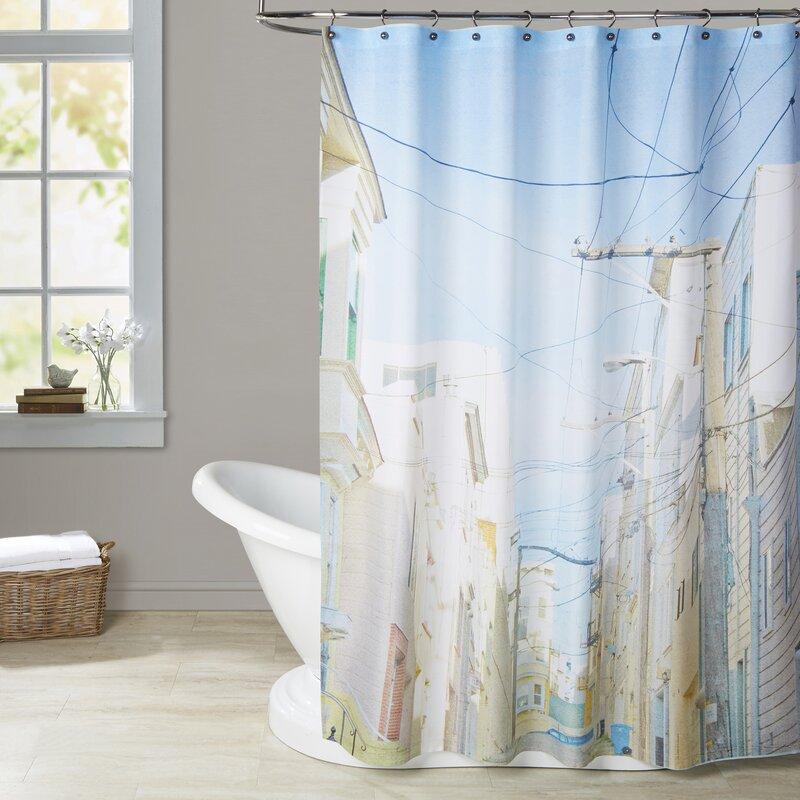 Mina Teslaru San Francisco Tops 4 Shower Curtain