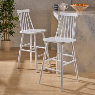 Tyson Traditional Rubberwood 29 Bar Stool (Set of 2)
