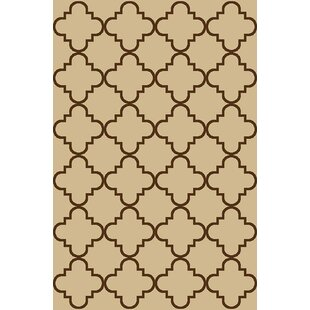 Hinman Moraccan Trellis Rubber Backed Ivory Area Rug