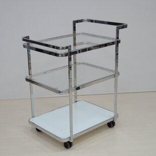 Ferrara Kitchen Cart with Glass Top