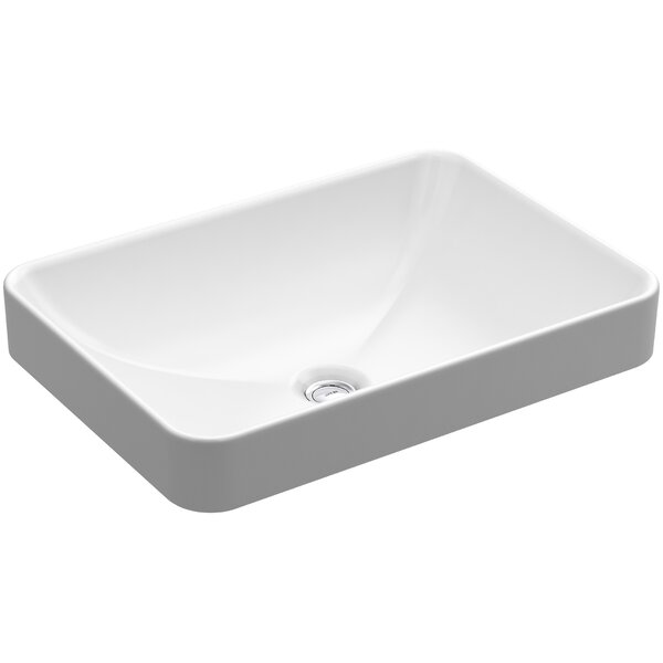 Kohler Vox Rectangle Vessel Bathroom Sink With Overflow Reviews Wayfair