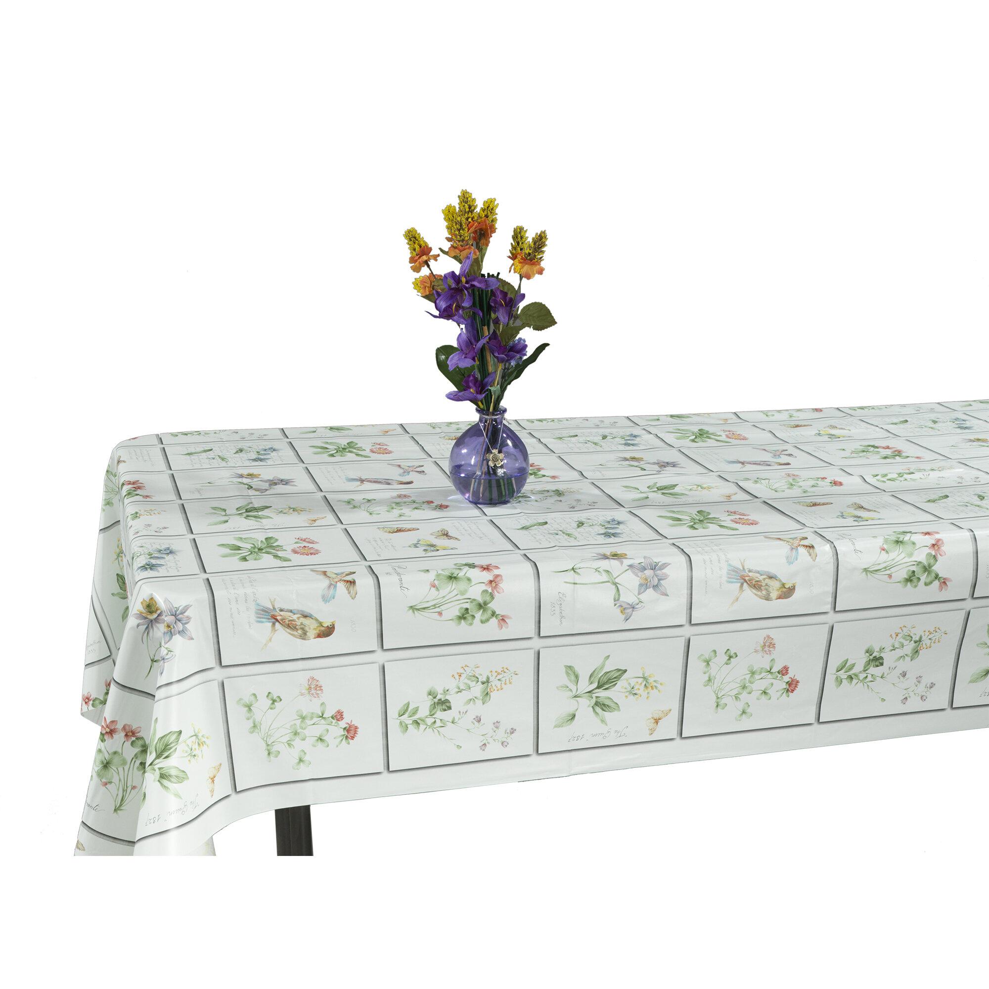 Ottomanson Essential Meadow Design Indoor/Outdoor Tablecloth ...