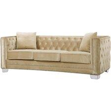 Fitzgerald Velvet Chesterfield Sofa