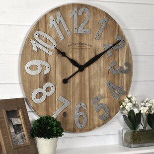 Slat Wood 22 5 Wall Clock