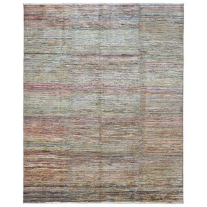 Gardena Hand-Woven Wool Green/Red Area Rug